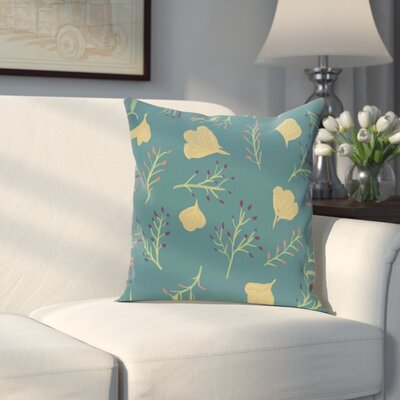 Orchard Lane Spring Floral Throw Pillow Size: 18 H x 18 W, Color: Teal