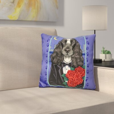 Cocker Spaniel Tuxedo Throw Pillow