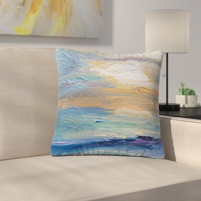Carol Schiff Ocean Sunset Coastal Outdoor Throw Pillow Size: 18 H x 18 W x 5 D