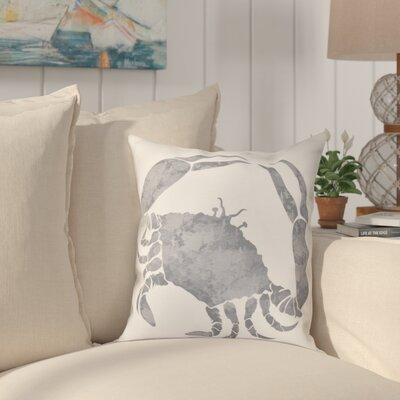 Boubacar Crab Throw Pillow Size: 26 H x 26 W, Color: Gray