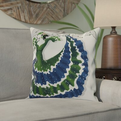 Drucker Throw Pillow Color: Green, Size: 16 x 16