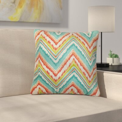 Struble Zigzag Cotton Throw Pillow Color: Teal/Red
