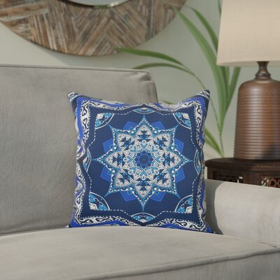 Meetinghouse Shawl Geometric Print Throw Pillow Size: 26 H x 26 W, Color: Navy Blue