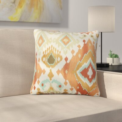 Shekhar Rowell Ikat Cotton Throw Pillow Color: Clay