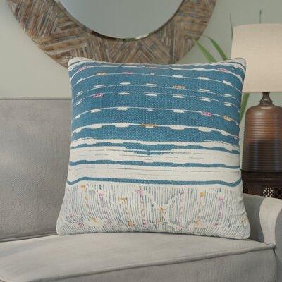 Darcio Decorative 100% Cotton Throw Pillow Color: Blue