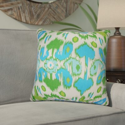 Rayyan Ikat Cotton Throw Pillow Color: Light Blue