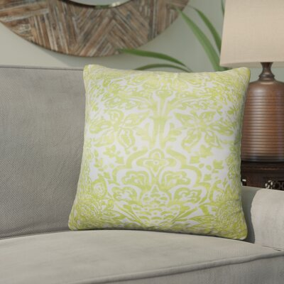 Kenzo Floral Cotton Throw Pillow Color: Green
