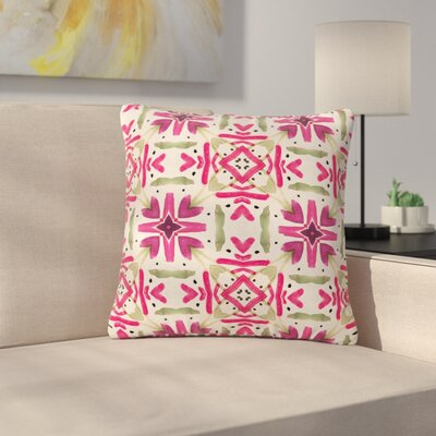 Laura Nicholson Echinacea Garden Geometric Outdoor Throw Pillow Size: 16 H x 16 W x 5 D