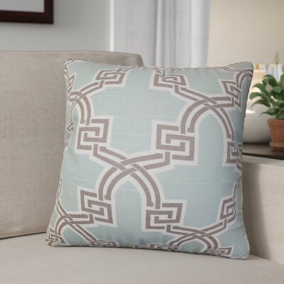 Danniel Geometric Cotton Throw Pillow Color: Blue