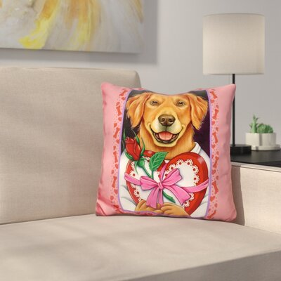 En Retriever Chocolate Box Throw Pillow
