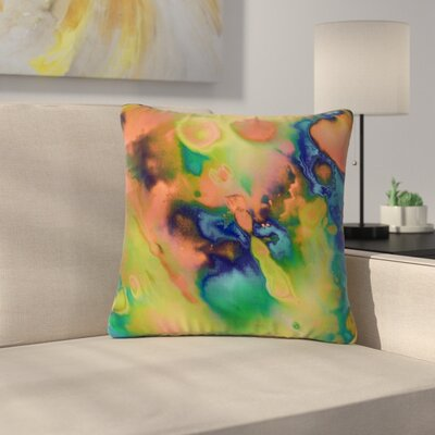Nina May Acid Splash Down Outdoor Throw Pillow Size: 18 H x 18 W x 5 D
