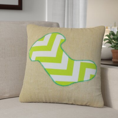 Christmas Stocking Linen Throw Pillow