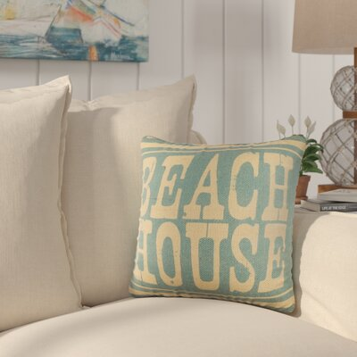 Charlotte Throw Pillow Color: Blue and Tan