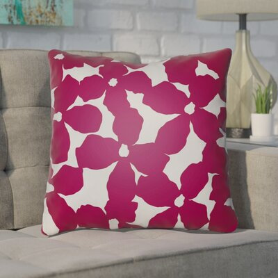 Gibson Throw Pillow Size: 20 H x 20 W x 4 D, Color: Red/Grey