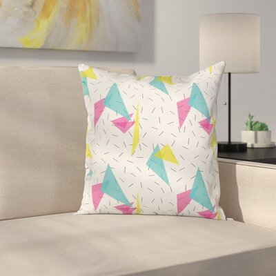 Memphis Style Forms Square Pillow Cover Size: 24 x 24