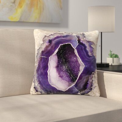 Sylvia Cook Quartz Outdoor Throw Pillow Size: 18 H x 18 W x 5 D