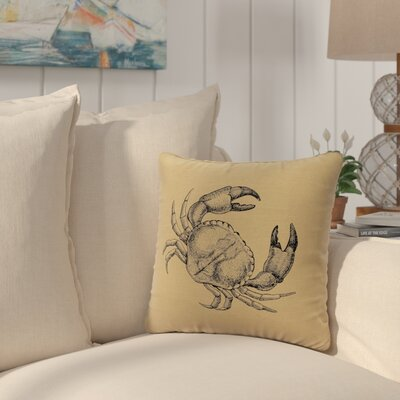 Truman Crab Throw Pillow Color: Straw