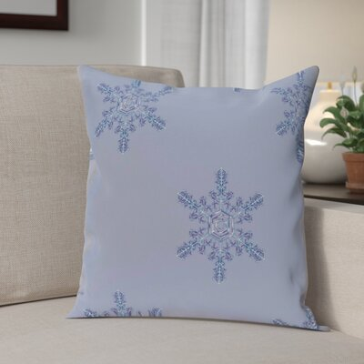 Flurries Decorative Holiday Print Throw Pillow Size: 18 H x 18 W, Color: Navy Blue