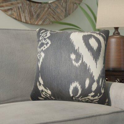 Gaiser Ikat Cotton Throw Pillow Color: Black