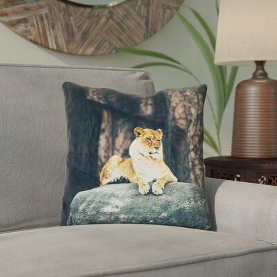 Thatcher Lioness Outdoor Throw Pillow Size: 20 x 20
