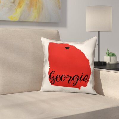 Georgia Pride Square Throw Pillow