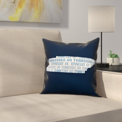 Tennessee Go Team Throw Pillow Color: Blue