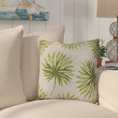Costigan Spike and Stamp Outdoor Throw Pillow Size: 18 H x 18 W x 3 D, Color: Green