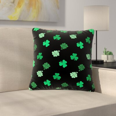 NL Designs Shamrocks Holiday Outdoor Throw Pillow Size: 16 H x 16 W x 5 D