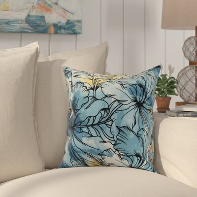 Randall Floral Print Indoor/Outdoor Throw Pillow Color: Teal, Size: 18 x 18