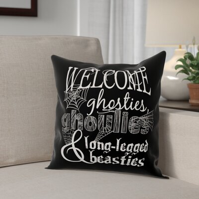 A Monster Welcome Throw Pillow Pillow Use: Indoor