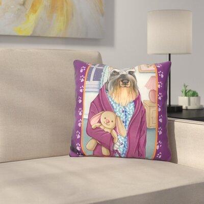 Schnauzer Bedtime Throw Pillow