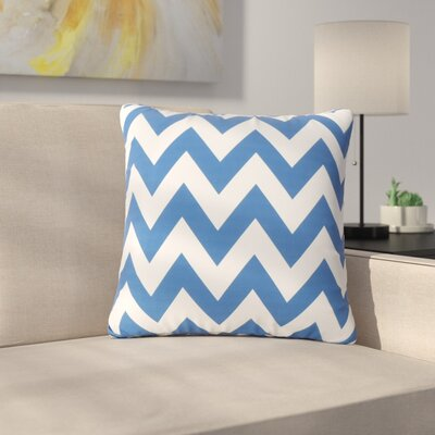 Mayhew Square Outdoor Throw Pillow Color: Blue/White
