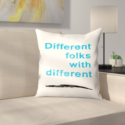 Diversity Quote Throw Pillow Size: 18 x 18