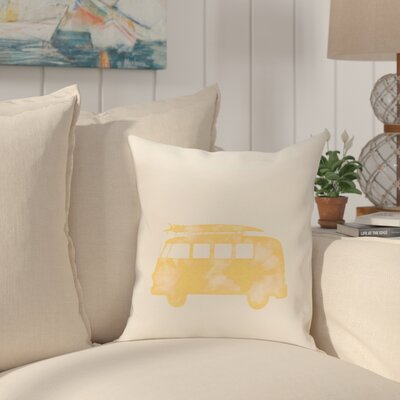 Golden Beach Beach Drive Geometric Throw Pillow Size: 16 H x 16 W, Color: Yellow
