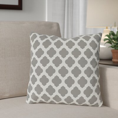 Flannigan Throw Pillow Size: 18 H x 18 W, Color: Turquoise Ivory
