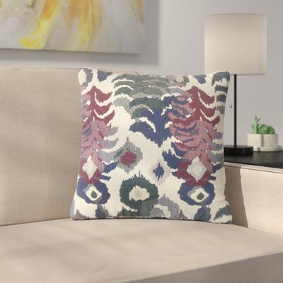Finklea Summerlin Ikat Throw Pillow Color: Purple