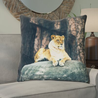 Thatcher Lioness Linen Euro Pillow