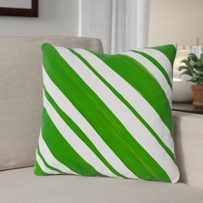 Square Candy Stripe Throw Pillow Size: 18 x 18