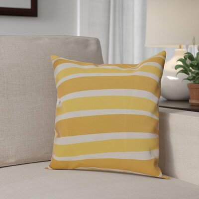 Hanukkah 2016 Decorative Holiday Striped Throw Pillow Size: 18 H x 18 W x 2 D, Color: Gold