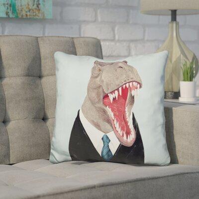 Hickerson T Rex Throw Pillow