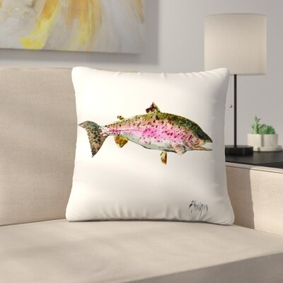 Rainbow Trout 1 Throw Pillow Size: 14 x 14
