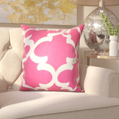 Clyburn 100% Cotton Throw Pillow Color: Candy Pink, Size: 20 x 20