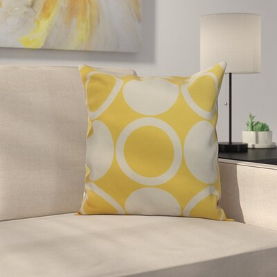 Memmott Mod Circles Throw Pillow Color: Yellow, Size: 26 x 26