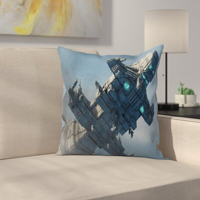 Fabric Cosmos Alien Warrior Square Pillow Cover Size: 16 x 16