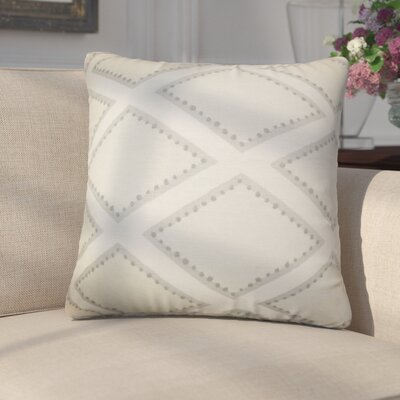 Agnese Geometric Linen Throw Pillow Color: Gray