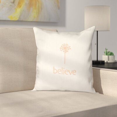Miles City Make a Wish Throw Pillow Size: 18 H x 18 W, Color: Peach