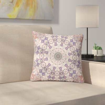 Alison Coxon Jungle Kaleidoscope Cool Outdoor Throw Pillow Size: 16 H x 16 W x 5 D, Color: Purple/White