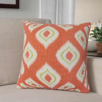 Arlandus Ikat Cotton Throw Pillow Color: Tomato