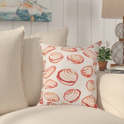 Cedarville Clams Geometric Print Outdoor Throw Pillow Size: 20 H x 20 W, Color: Coral