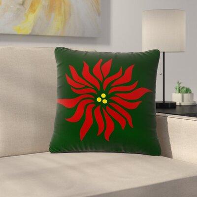 NL Designs Poinsettia Outdoor Throw Pillow